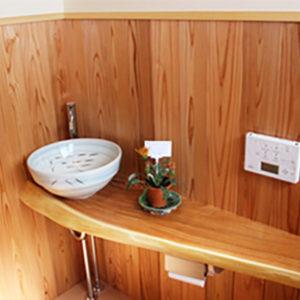 奈良の木の家 洗面台