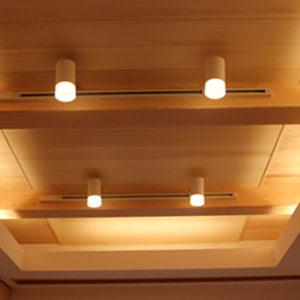 奈良の木の家 照明