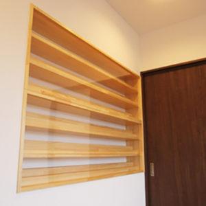 奈良で旧家リフォームなら平野木材 造作棚