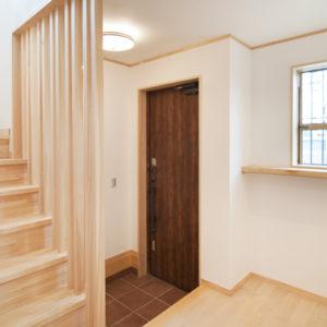 奈良の木と漆喰の家なら平野木材 玄関