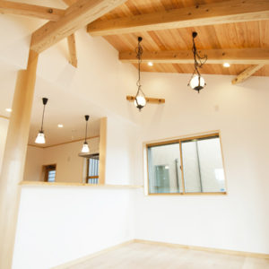 奈良の木と漆喰の家なら平野木材 照明