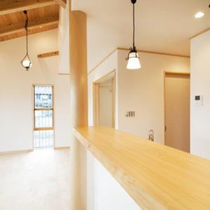 奈良の木と漆喰の家なら平野木材 カウンター