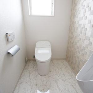 奈良の広いリビングの木の家なら平野木材 トイレ