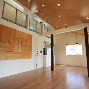 奈良の広いリビングの木の家なら平野木材 リビング