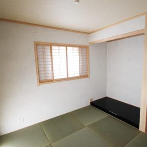 奈良の広いリビングの木の家なら平野木材 和室