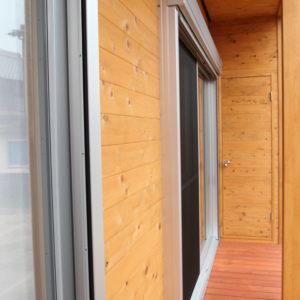 奈良で金属サイディングの木の家なら平野木材 縁側