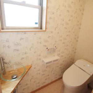 奈良でスタイリッシュな木の家なら平野木材 トイレ