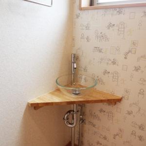 奈良でスタイリッシュな木の家なら平野木材 洗面台