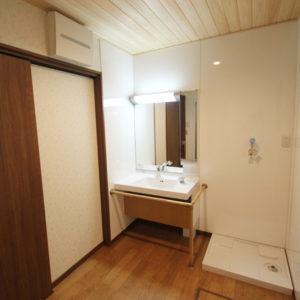 奈良でバリアフリーの木の家 なら平野木材 洗面台
