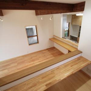 奈良でさくら無垢の木の家 多目的スペース平野木材
