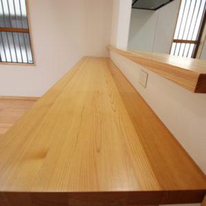 奈良でさくら無垢木の家 カウンターキッチン平野木材