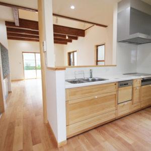 奈良でさくら無垢木の家 キッチン平野木材