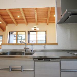 奈良で和風モダンの木の家 キッチン平野木材