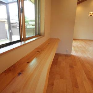 奈良で和風モダンの木の家 カウンター平野木材