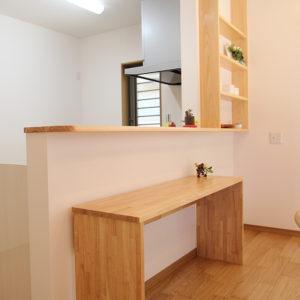 奈良の家事が楽な木の家 キッチンカウンター 平野木材