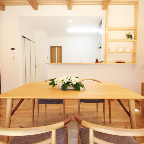 奈良の家事が楽な木の家 ダイニング 平野木材