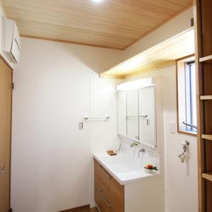 奈良の家事が楽な木の家 洗面所 平野木材