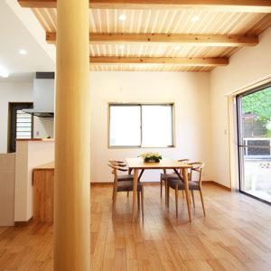 奈良の家事が楽な木の家 リビング 平野木材