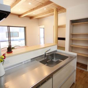 奈良の家事が楽な木の家 キッチン平野木材