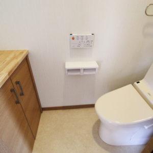 奈良で構造にひのき無垢材の木の家なら平野木材 トイレ