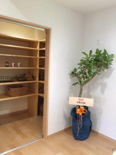 奈良木の家、奈良注文住宅、収納、自然素材