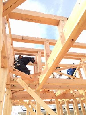棟上げ、奈良木の家、平野木材の家