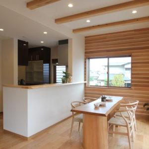 奈良の木の家 二世帯住宅リビング 平野木材