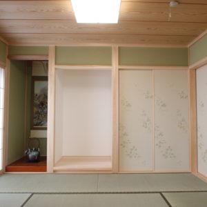 奈良の木の家 二世帯住宅和室 平野木材