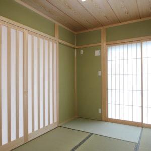 奈良の木の家二世帯住宅 和室 平野木材