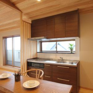 奈良の木の家 二世帯住宅キッチン 平野木材