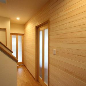 奈良の木の家 二世帯住宅階段 平野木材