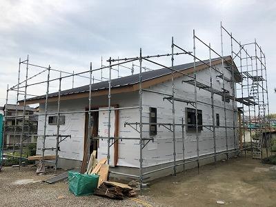奈良の木の家、奈良の工務店、奈良注文住宅、棟上げ、耐震補強、断熱、パッシブ、完成見学会、棟上げ
