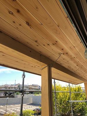 奈良の木の家、奈良の工務店、自然素材、無垢、漆喰木の庇屋根、