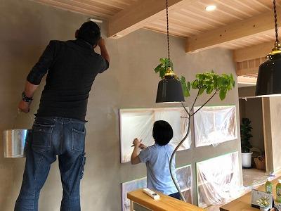 高千穂シラス、ドライアウト、奈良の木の家、奈良の工務店、奈良注文住宅、棟上げ、耐震補強、断熱、パッシブ