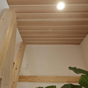 奈良の旧家リフォーム木の家 天井 照明平野木材