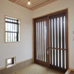 奈良の旧家リフォーム木の家 玄関平野木材