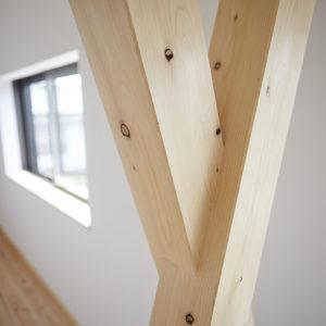 奈良の旧家リフォーム木の家 筋交い平野木材