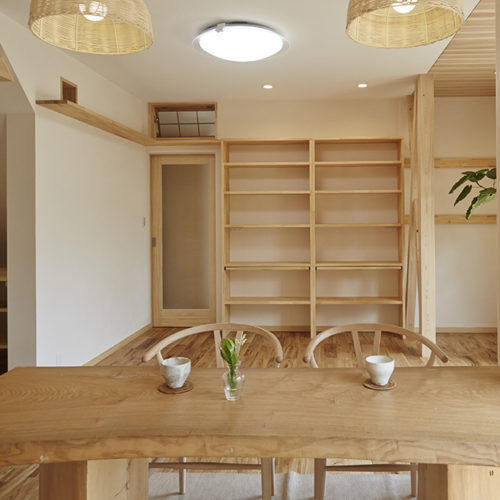 奈良の旧家リフォームの木の家 リビング