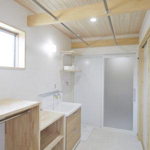 奈良の木の家 洗面所
