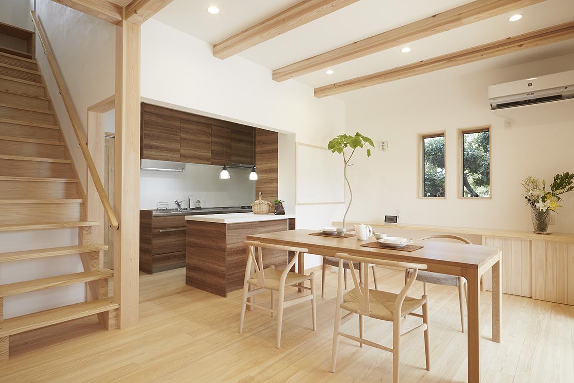 奈良の木の家 リビング