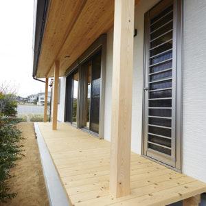 奈良の木の家 縁側