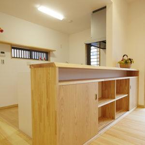 奈良の木の家 カウンター