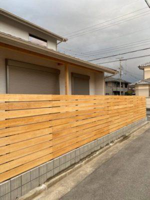 奈良で木製フェンスなら平野木材