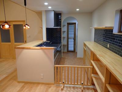 奈良で木のi家 キッチン平野木材