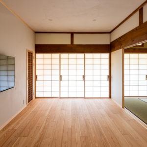 奈良で古民家旧家リフォームの太鼓障子なら平野木材