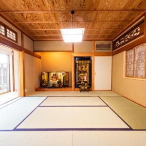 奈良で古民家旧家リフォームの座敷なら平野木材