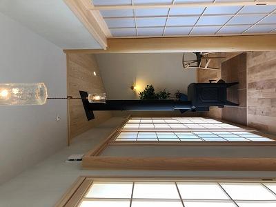 奈良で平屋の木の家薪ストーブなら平野木材