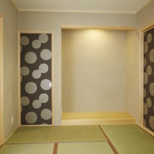 奈良でおしゃれな和室の平屋の木の家なら平野木材