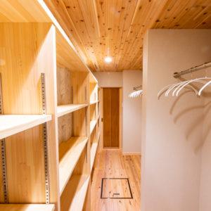 奈良で古民家旧家リフォームのウォークインクローゼットなら平野木材