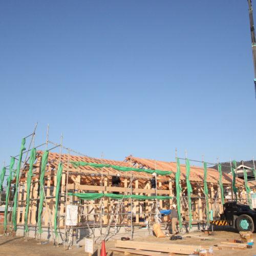 奈良で木の家の棟上げなら平野木材